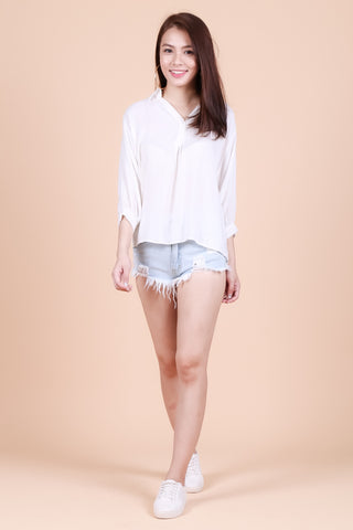 *RESTOCKED* SERENDIPITY LOUNGE TOP IN WHITE