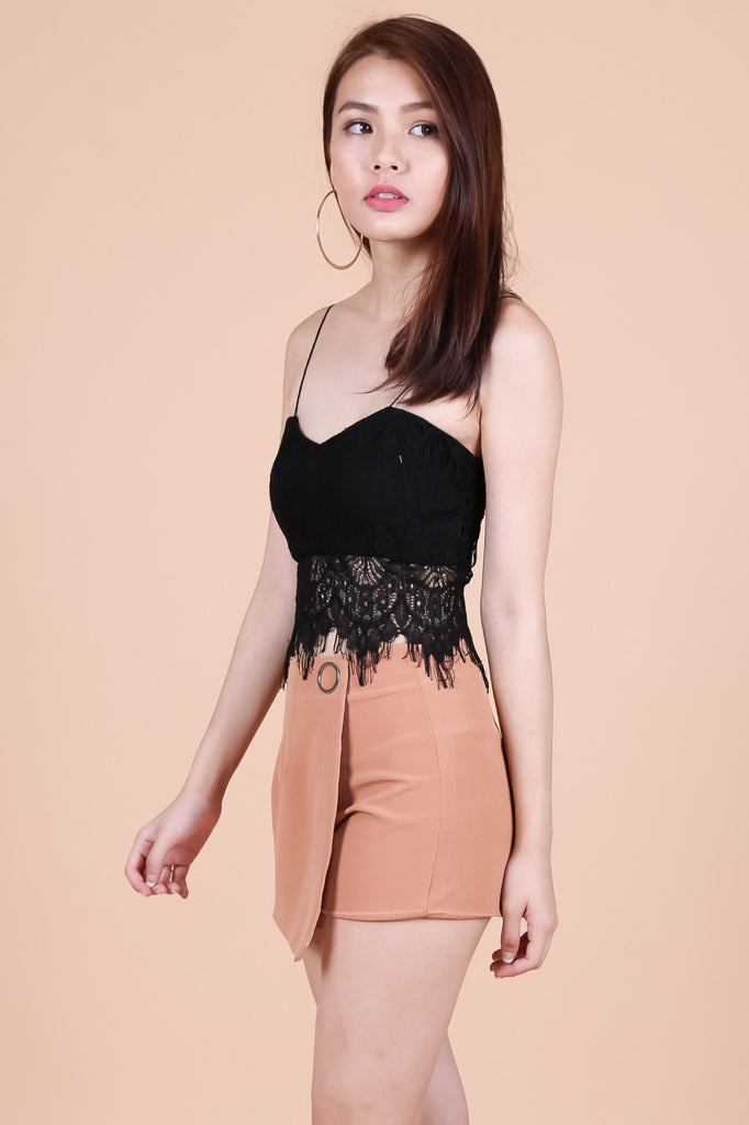 *RESTOCKED* SAPPHIRE LACE TOP IN BLACK