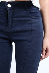 *RESTOCKED* SLIM CUT DENIM JEGGINGS IN DARK BLUE - TOPAZETTE