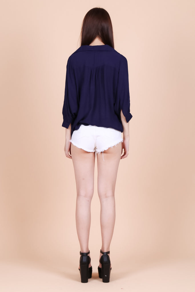 SERENDIPITY LOUNGE TOP IN NAVY