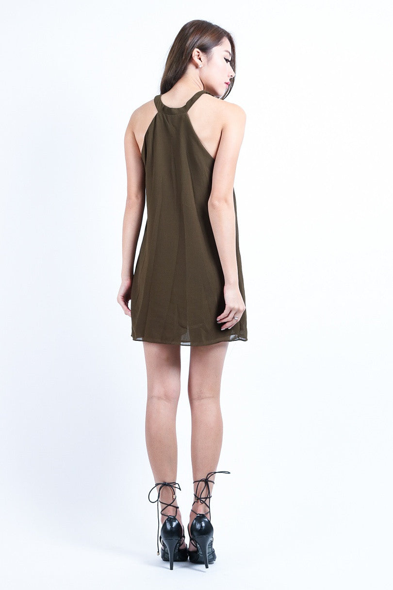 TRICIA DRESS IN OLIVE