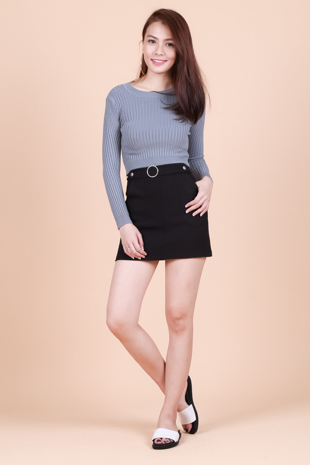 WILLOW SOFT KNIT TOP IN GREY