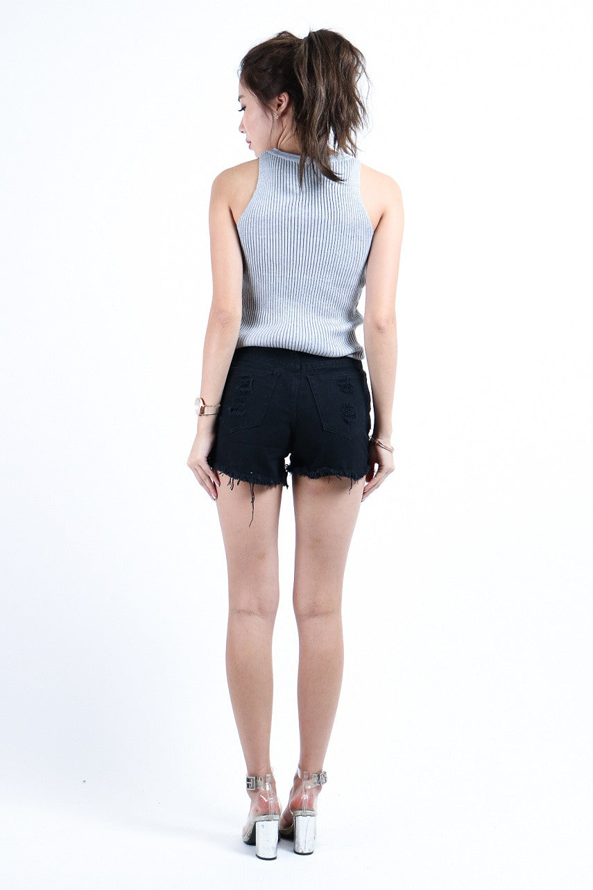 WILD REBEL TWO WAY TOP IN GREY