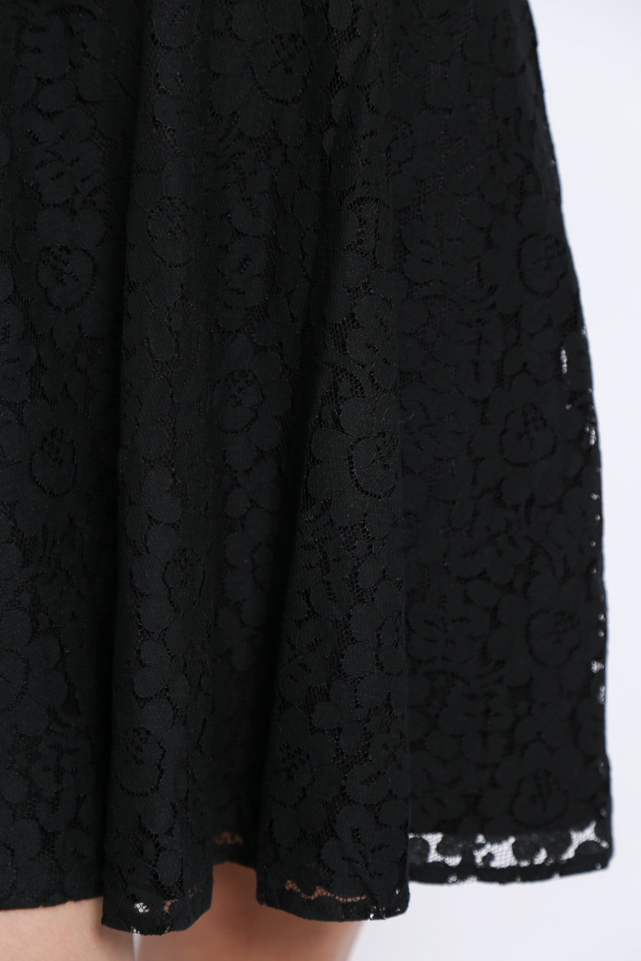 *TOPAZ* (PREMIUM) VALENTINO LACE DRESS IN BLACK - TOPAZETTE