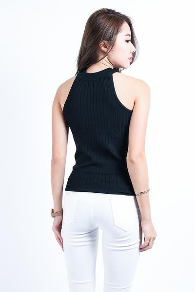 *RESTOCKED* GISELLE KNIT TOP IN BLACK