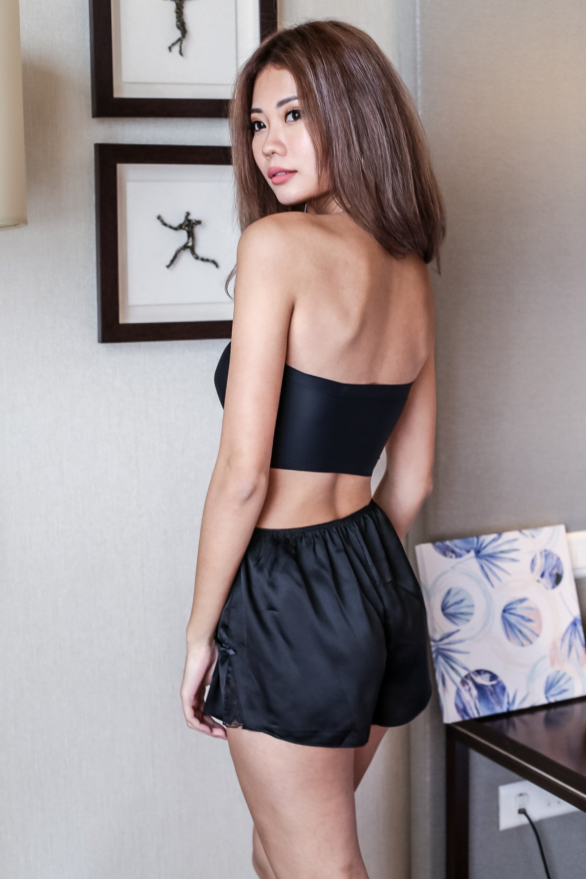 LOUNGE SLIP SHORTS - TOPAZETTE