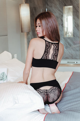 CALLIE SEXY LACE 2 PC MAXIMIZER SET