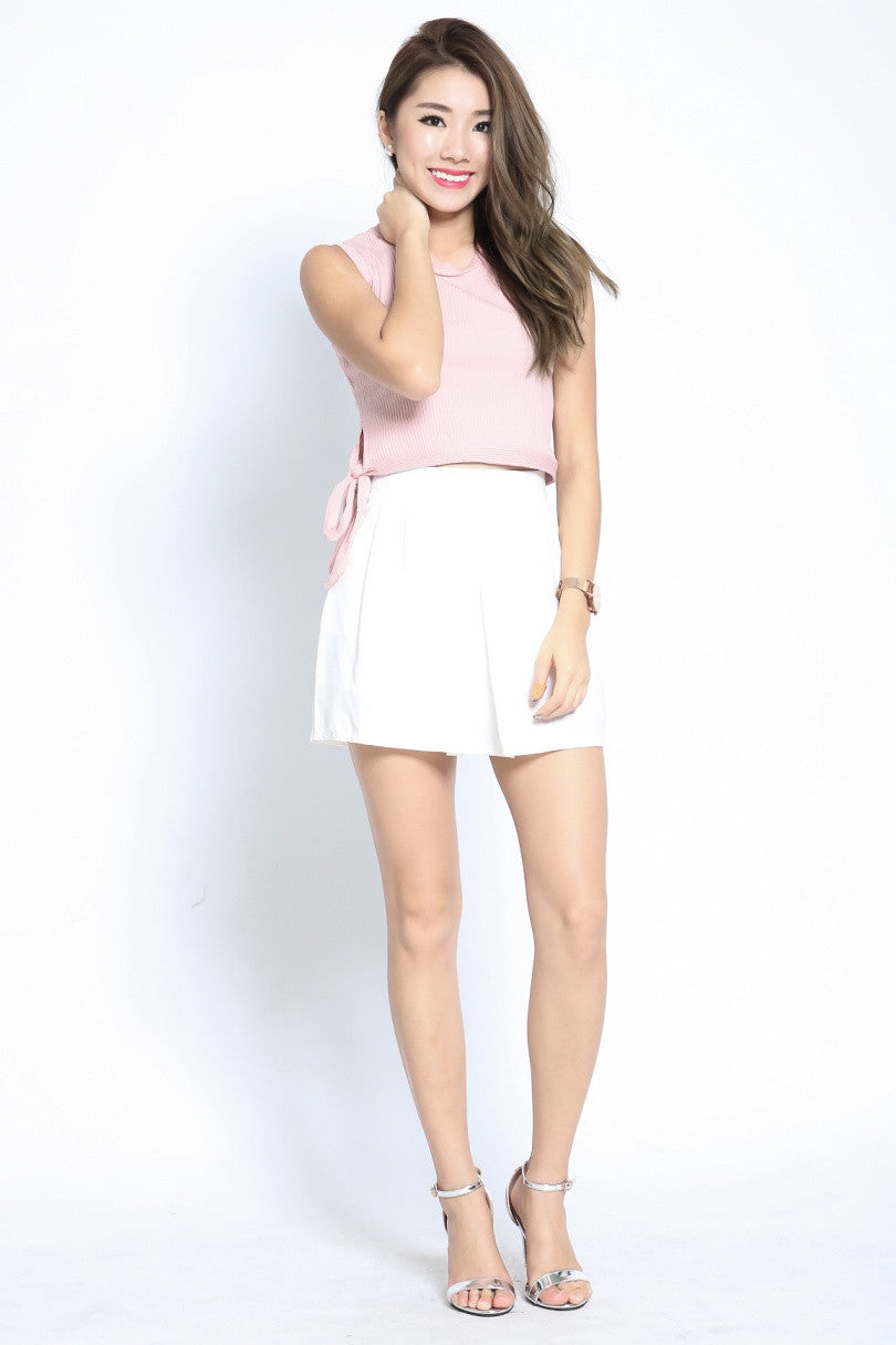 #MADEBYTPZ EASY THERE SKORTS IN WHITE - TOPAZETTE