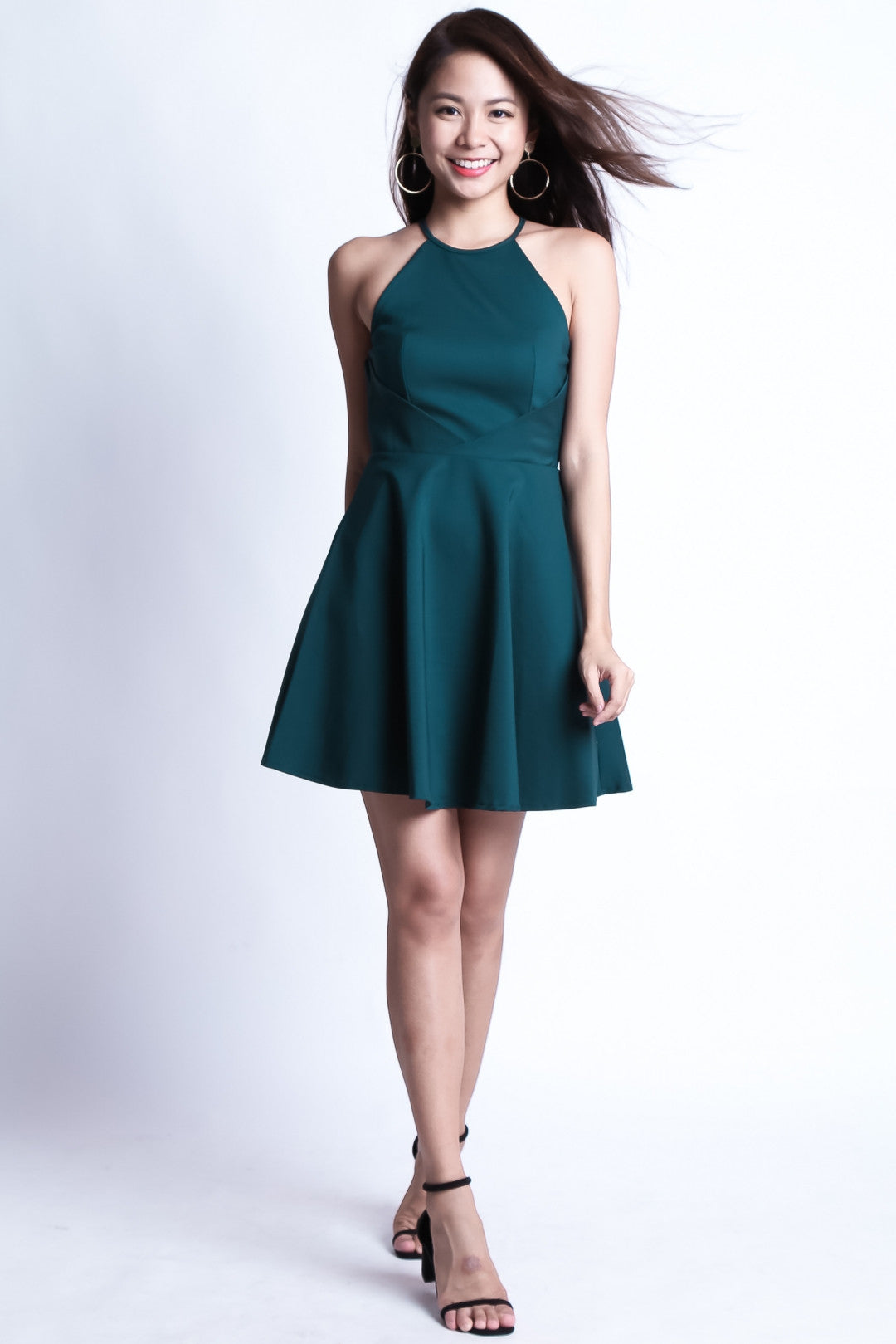 3cf19329f53  TOPAZ  (PREMIUM) KAYLA DRESS IN FOREST - TOPAZETTE
