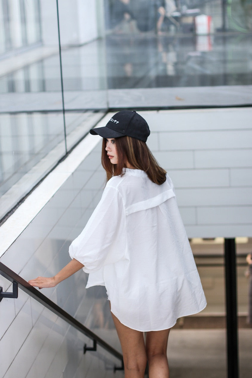 SET ME FREE OVERSIZED TOP IN WHITE