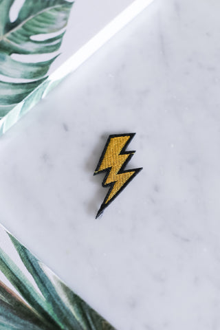 LIGHTNING IRON ON PATCH