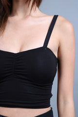 (RESTOCKED) LOW BACK STRAP AROUND BRA TOP IN BLACK - TOPAZETTE