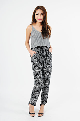 JENCY BAROQUE SLACK PANTS (P20) - TOPAZETTE