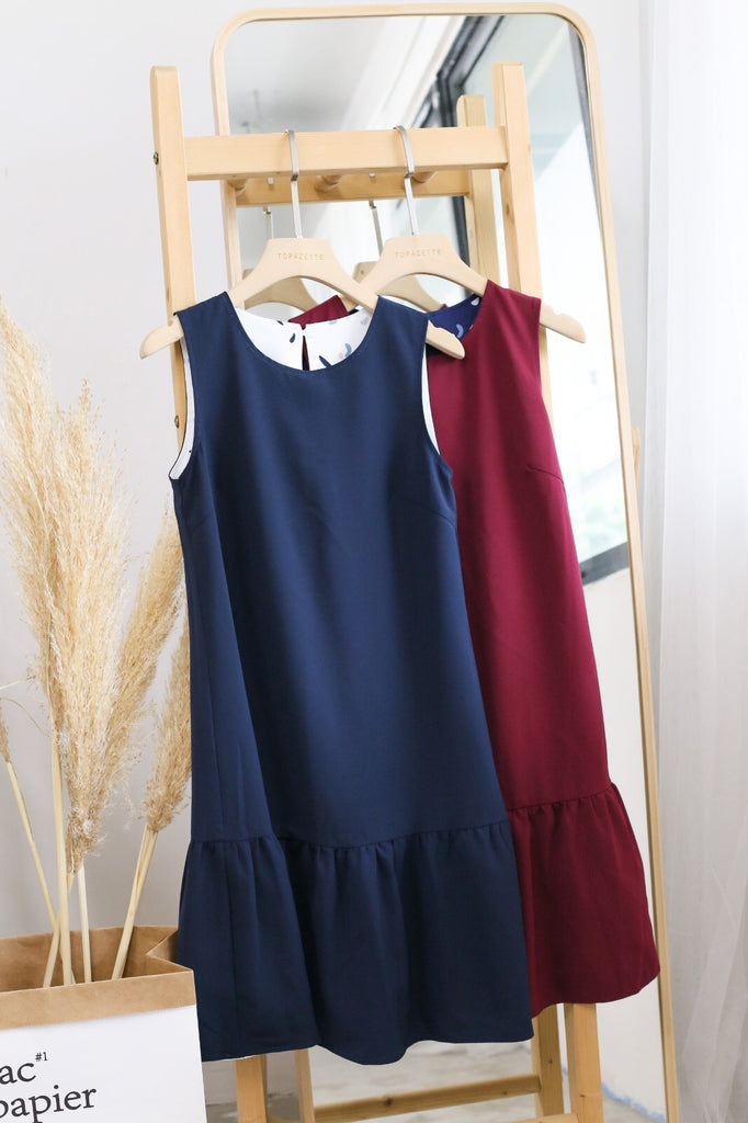 *TPZ* PARTY CONFETTI REVERSIBLE DRESS (NAVY/ BURGUNDY)