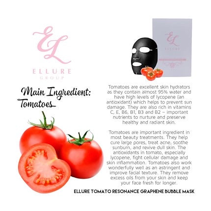 *READY STOCK* ELLURE TOMATO RESONANCE GRAPHENE BUBBLE MASK