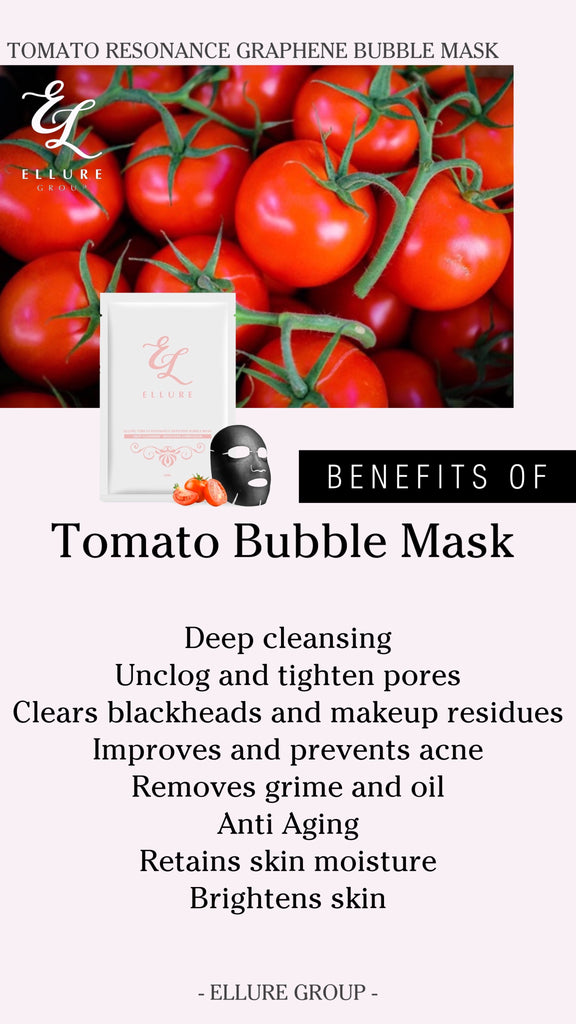 *READY STOCK* ELLURE TOMATO RESONANCE GRAPHENE BUBBLE MASK - TOPAZETTE