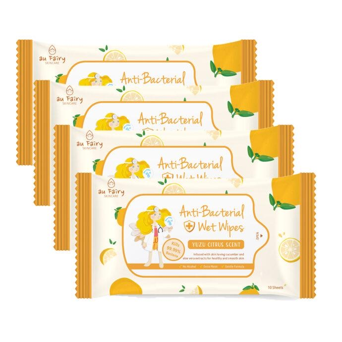 *PRE-ORDER* AU FAIRY ANTI BACTERIAL WET WIPES (YUZU CITRUS)