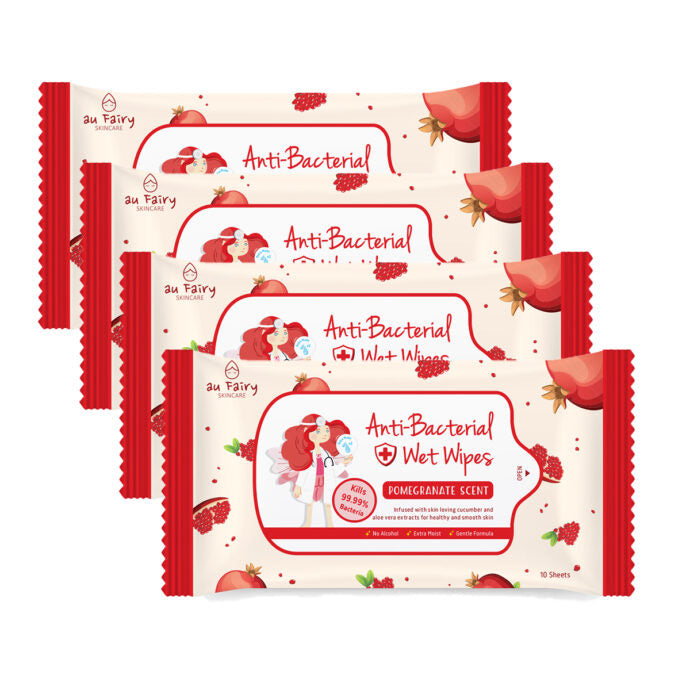 *PRE-ORDER* AU FAIRY ANTI BACTERIAL WET WIPES (POMEGRANATE) - TOPAZETTE