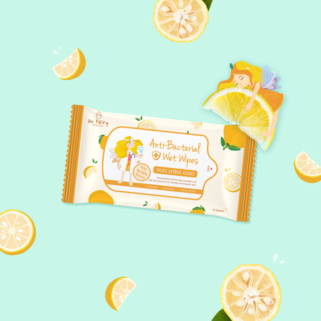 *PRE-ORDER* AU FAIRY ANTI BACTERIAL WET WIPES (YUZU CITRUS) - TOPAZETTE
