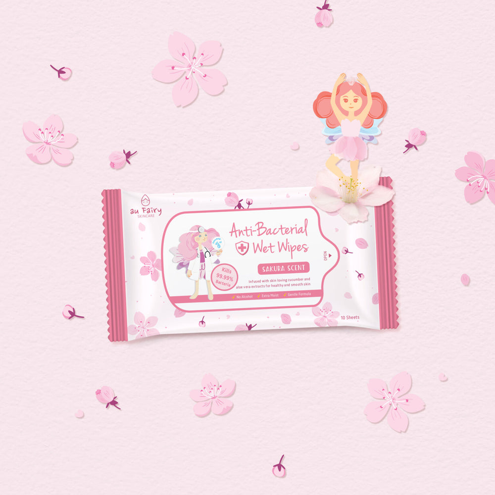 *PREORDER* AU FAIRY ANTI BACTERIAL WET WIPES (SAKURA)