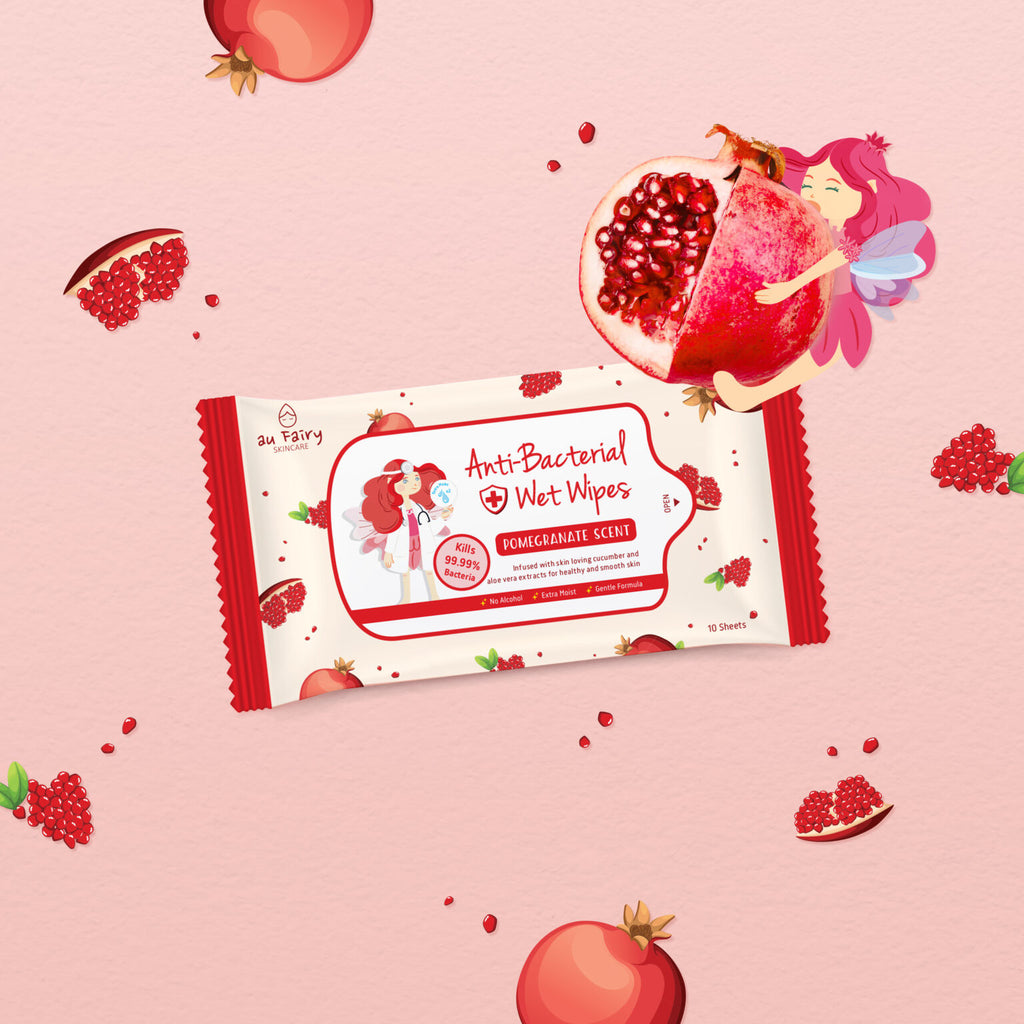 *PRE-ORDER* AU FAIRY ANTI BACTERIAL WET WIPES (POMEGRANATE)
