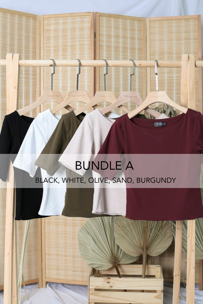 NERVANA SLEEVED BASIC TOP (BUNDLE A)