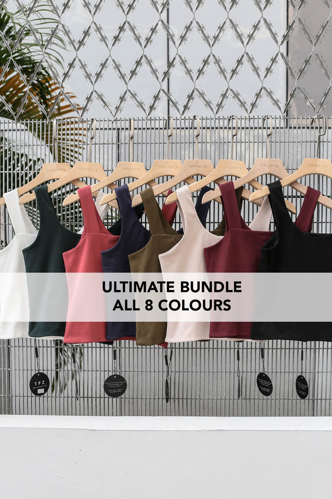 OLIVIA REVERSIBLE BASIC TOP (ULTIMATE BUNDLE 8 COLOURS)