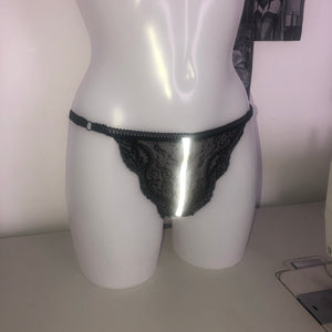 Reflective Lace Thong