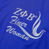 Embroidered Robe, Zeta - Finer Woman - Blue