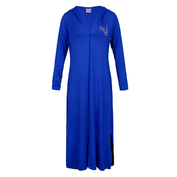 Blue Hooded Cardigan Duster, Zeta - Finer Since 1920