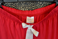 Cami and Short Set, Red and White