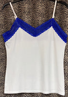 Cami and Short Set, Blue and White