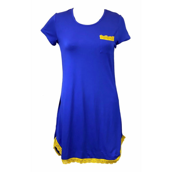 Nightdress, Blue and Gold