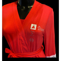Embroidered Robe, Delta Sigma Theta - Diva