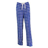 Plaid Lounge Pants - Blue and White