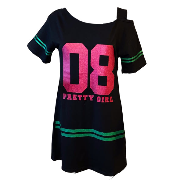 Sparkle Nightshirt, Pretty Girl - Black