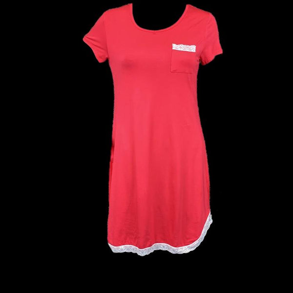Nightdress, Red and White