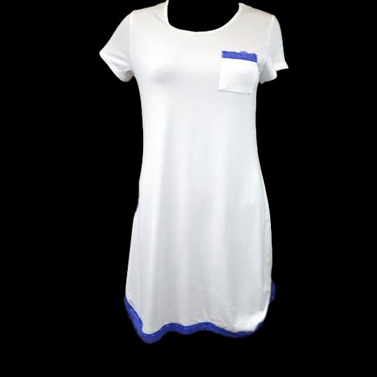 Nightdress, Blue and White