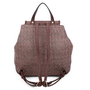 Florence straw woven backpack