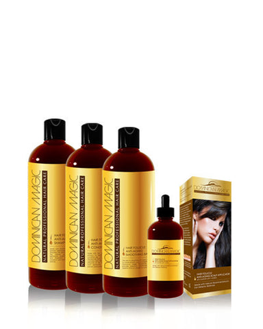 Dominican Magic -Conjuto de productos para evitar la caidad prematura del cabello. (4 productos) - Dominican magic