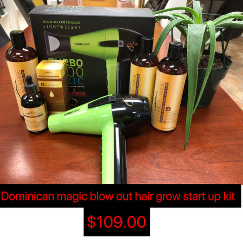 Dominican Magic hair growth start up kit.