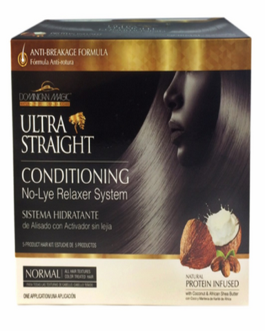 Dominican Magic Ultra Straight No Lye Relaxer Kit Regular ( Normal)