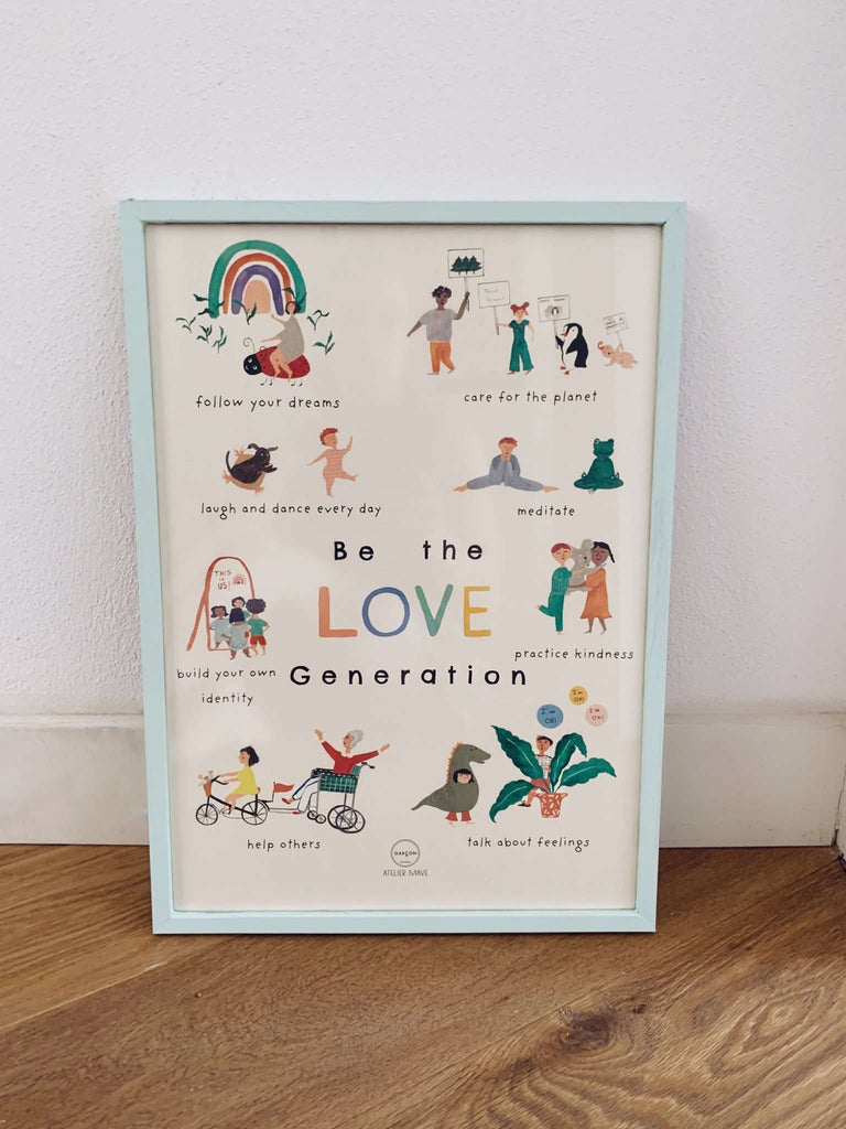 """Be the Love Generation"" Poster - Choulala Box"