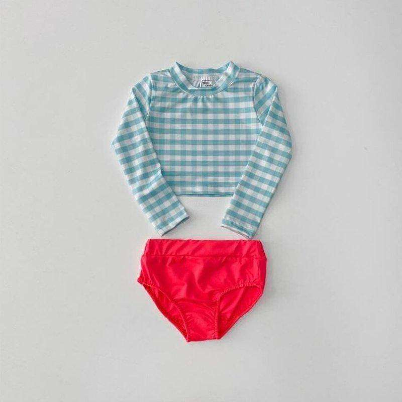 Check 2-piece Swimsuit - Choulala Box