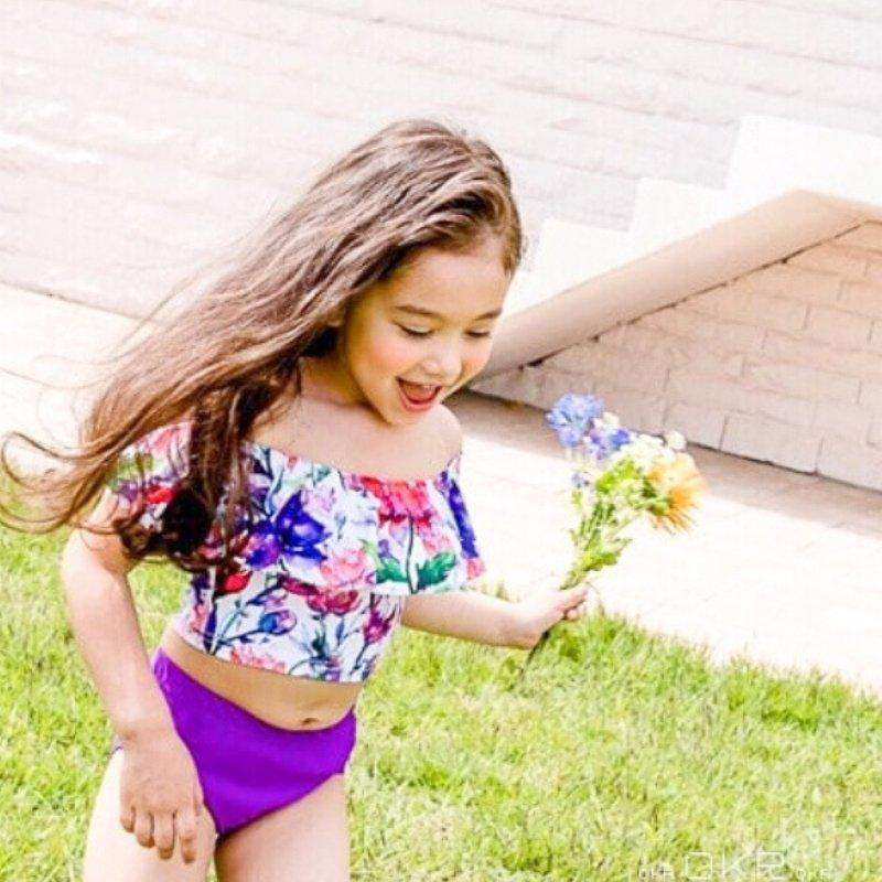 Flowers 2-piece Swim Suit - Choulala Box
