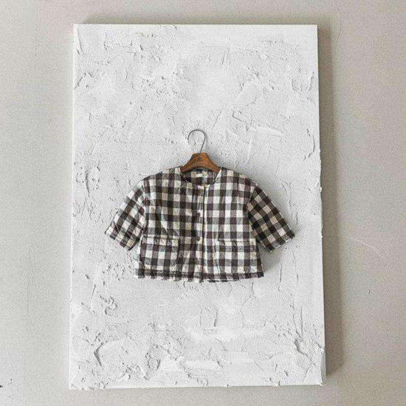 Gingham Quilted Puffer Jacket - Choulala Box