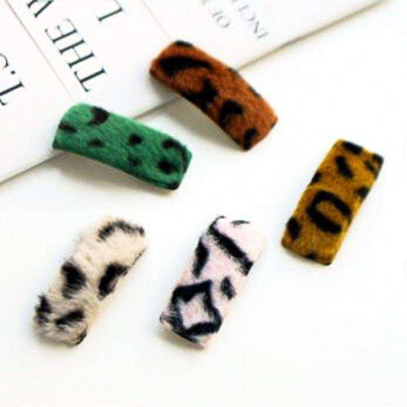 Leopard Square Hairpin (set of 5) - Choulala Box