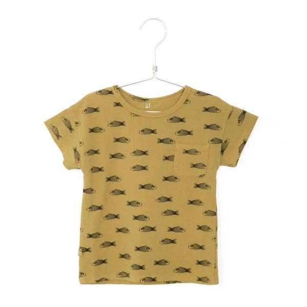 Organic Cotton | Fishes Ochre Tee - Choulala Box