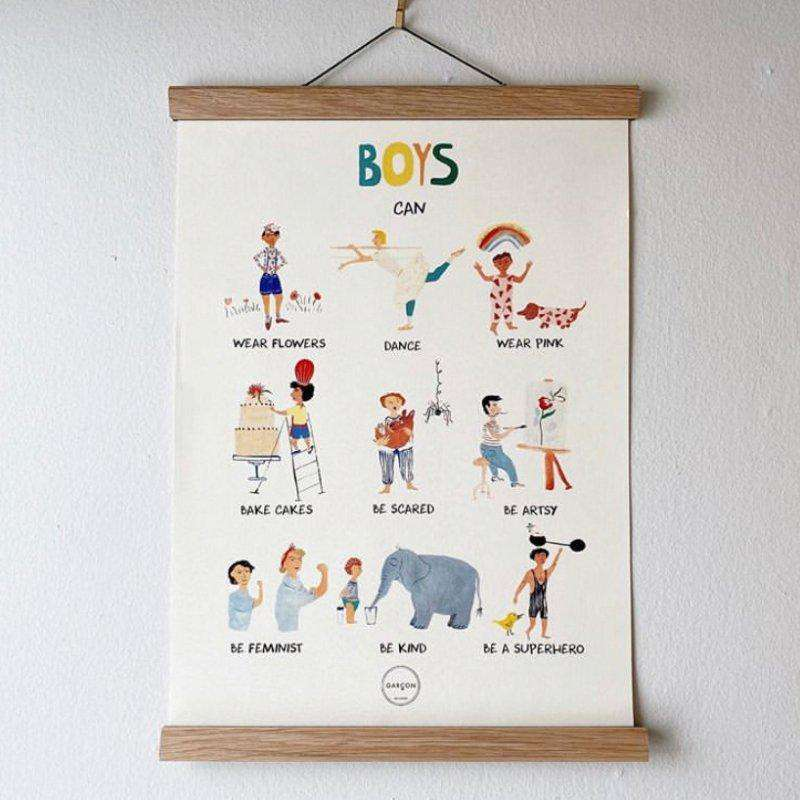 "pre-order ""Boys Can"" Poster - Choulala Box"