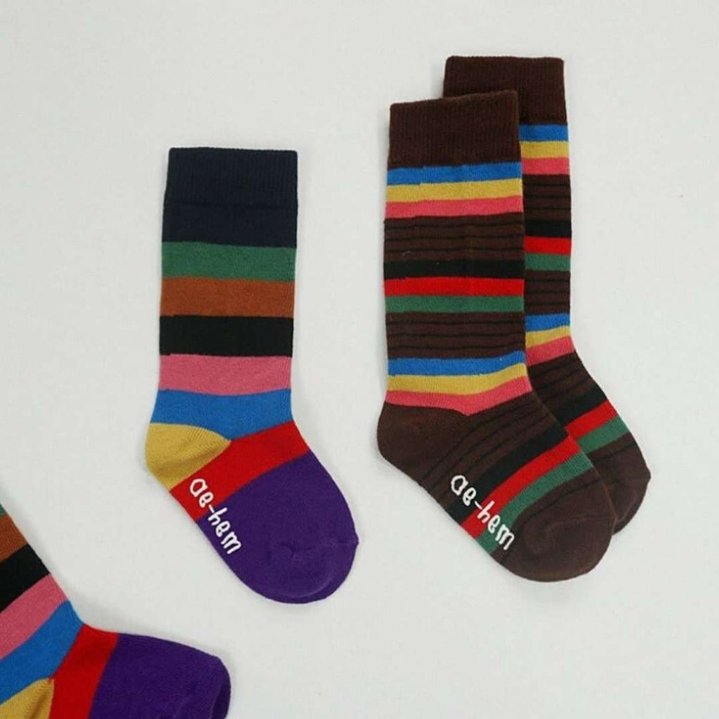 Stripes Socks (set of 2 pairs) - Choulala Box